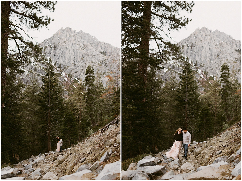 Adventurous Lake Tahoe couples photographer