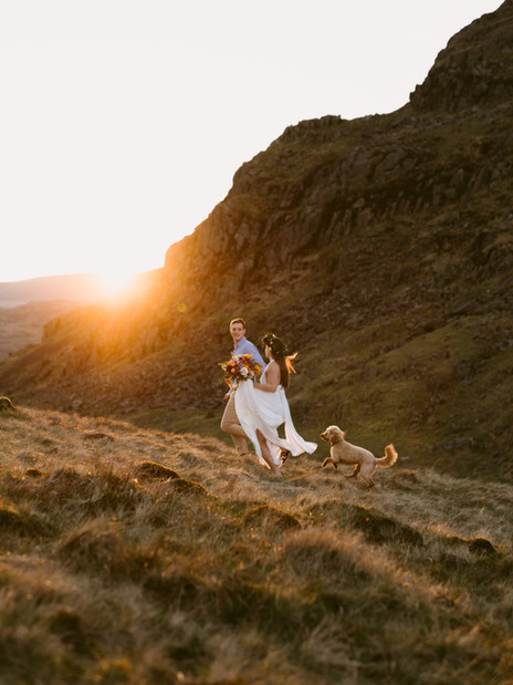 Boho Styled Elopement | Lake District, England | UK Outdoor Elopement Photographer