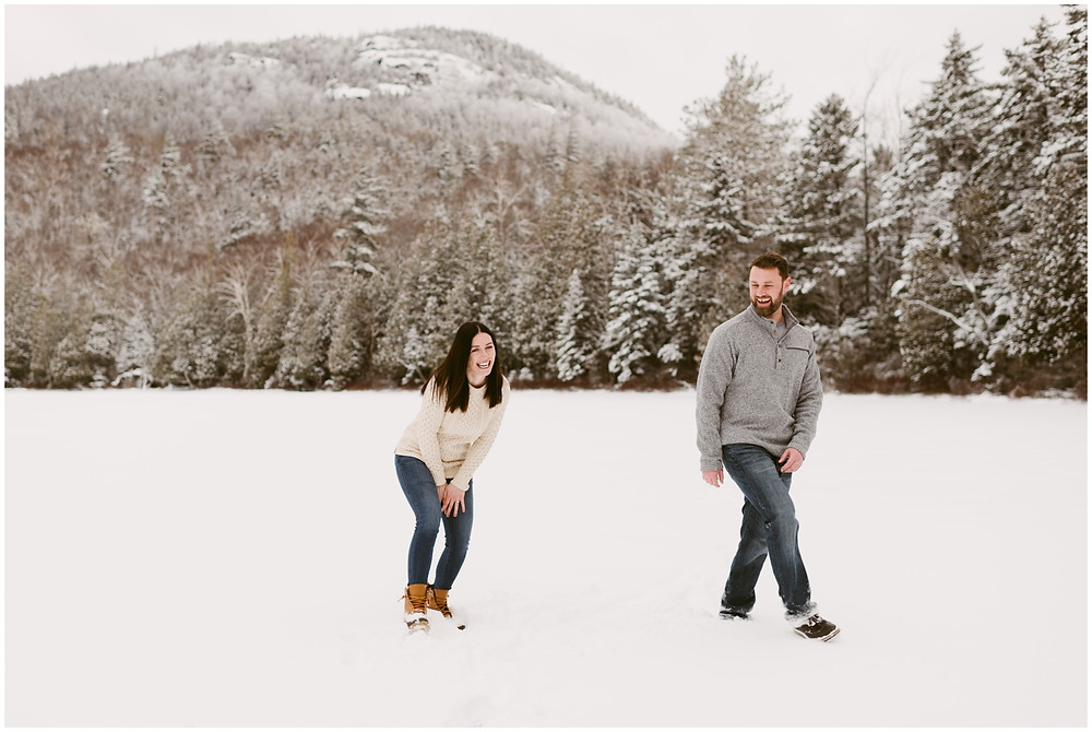 Engagement session at Mount Jo on Heart Lake by Mountainaire Gatherings