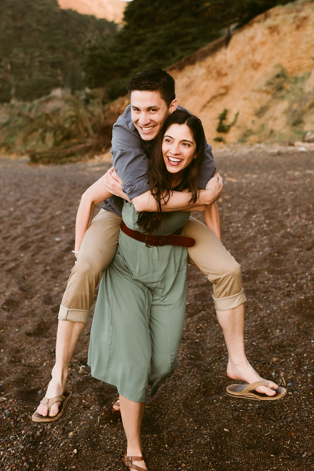 Sunrise engagement session at Kirby Cove | San Francisco Elopement Photographer