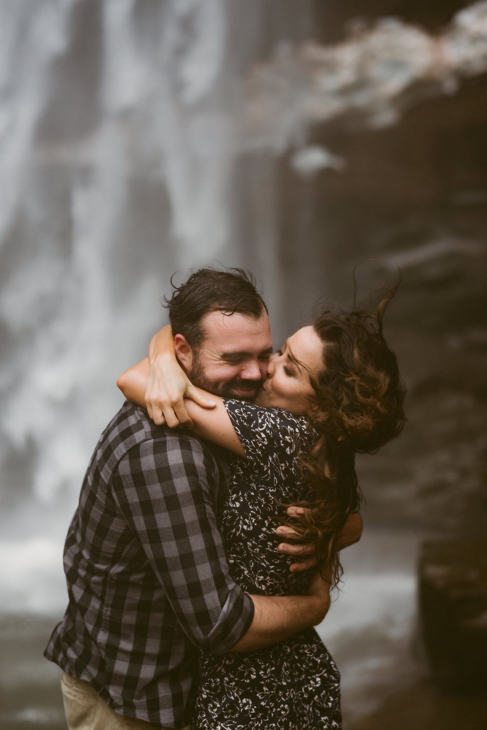 Kaaterskill engagement session by adventurous upstate New York wedding photographer Mountainaire Gatherings