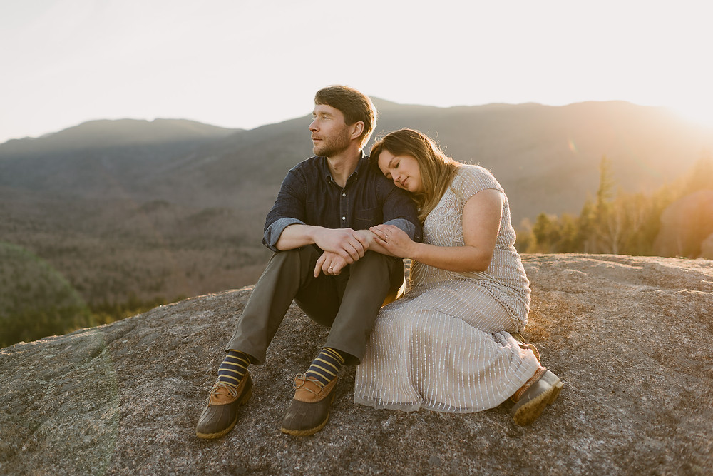 Adventurous Maternity Session on Mount Jo in Lake Placid, NY | Adirondack Wedding Photographer