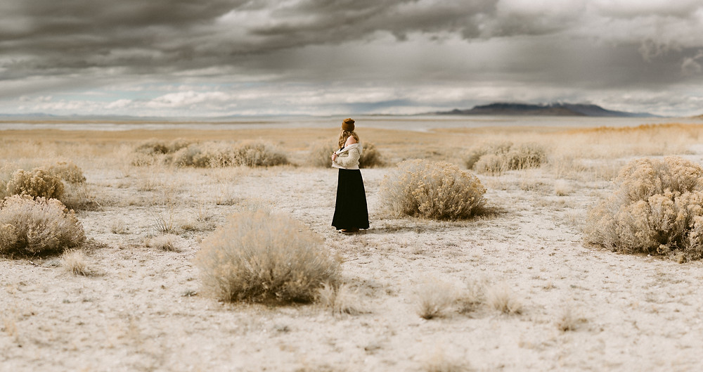 Antelope Island Portrait Session | Utah Wedding Photographer