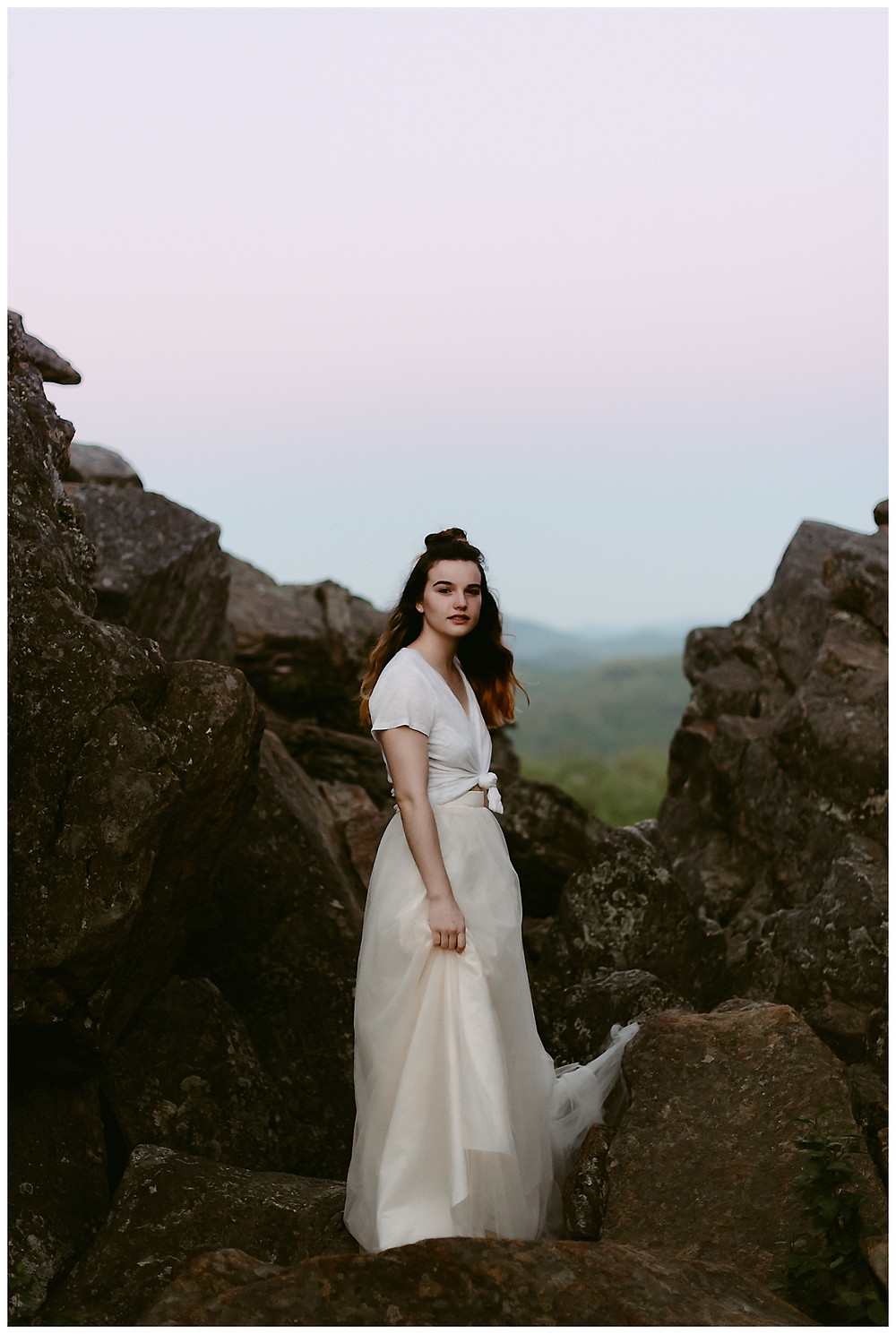 Sunrise Portrait Session on Chimney Mountain by Mountainaire Gatherings
