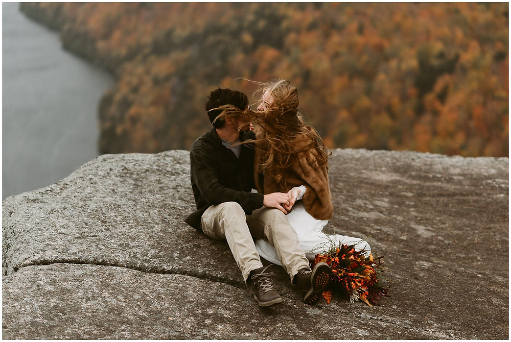 hiking elopement in the adirondack mountains by Mountainaire Gatherings