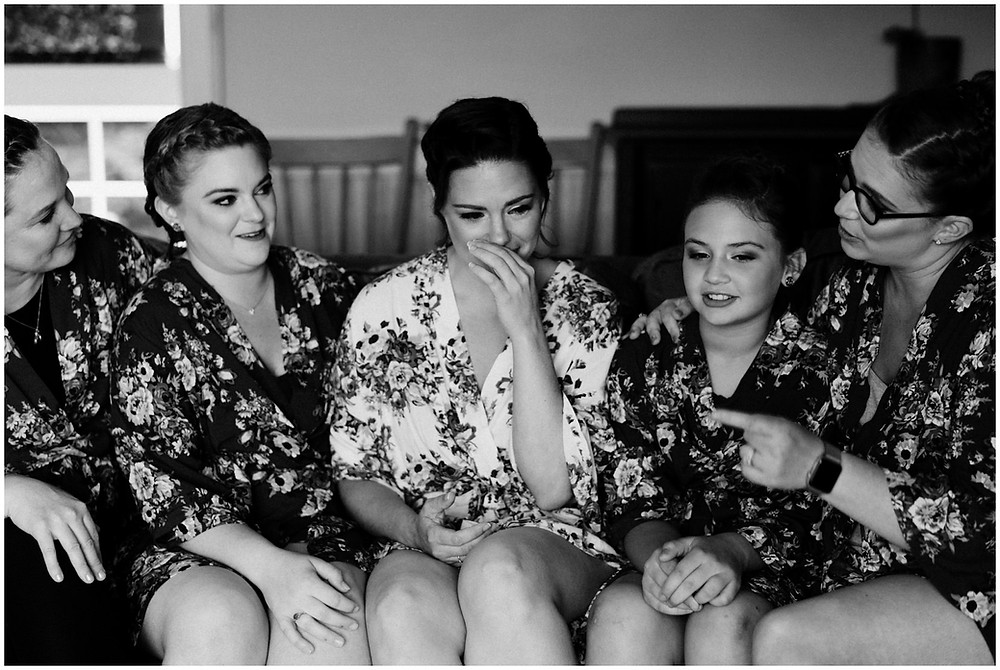 Bridesmaids at spring wedding at the Mountain Top Inn