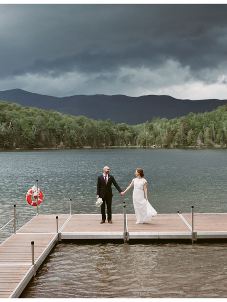 Andrea & Matt's Outdoor Wedding at the Adirondak Loj