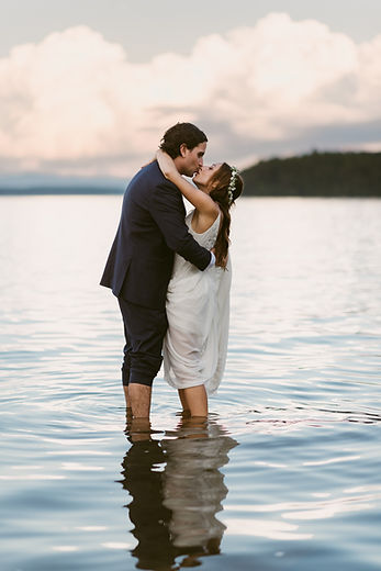 Lake Champlain wedding and elopement pho