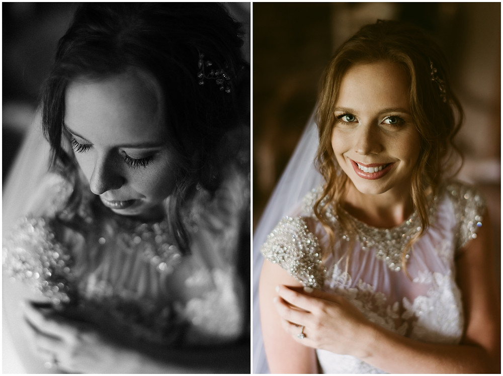 Bridal portraits by Delaware wedding photographer Mountainiare Gatherings