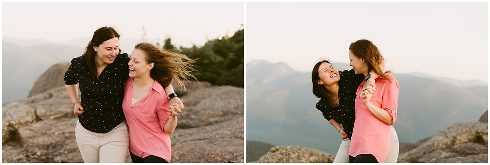 Sunrise engagement session in the Adirondacks