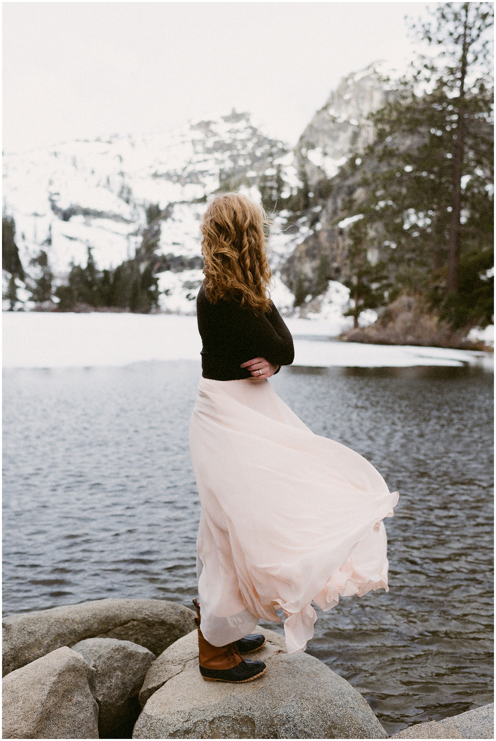 Outdoor elopement photographer in Lake Tahoe