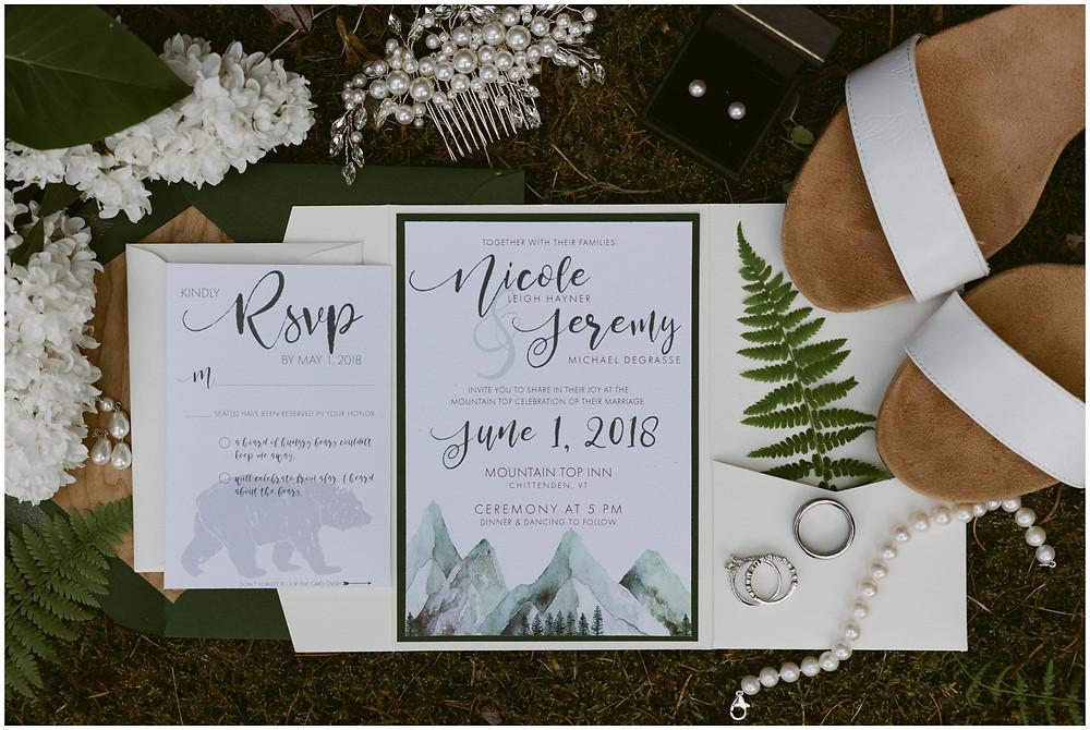Rainy New England outdoor wedding