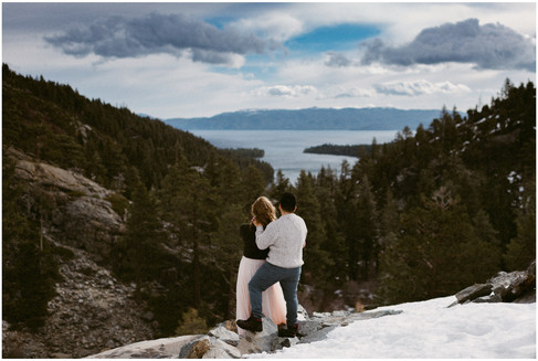 Lake Tahoe Couples Session Overlooking Emerald Bay