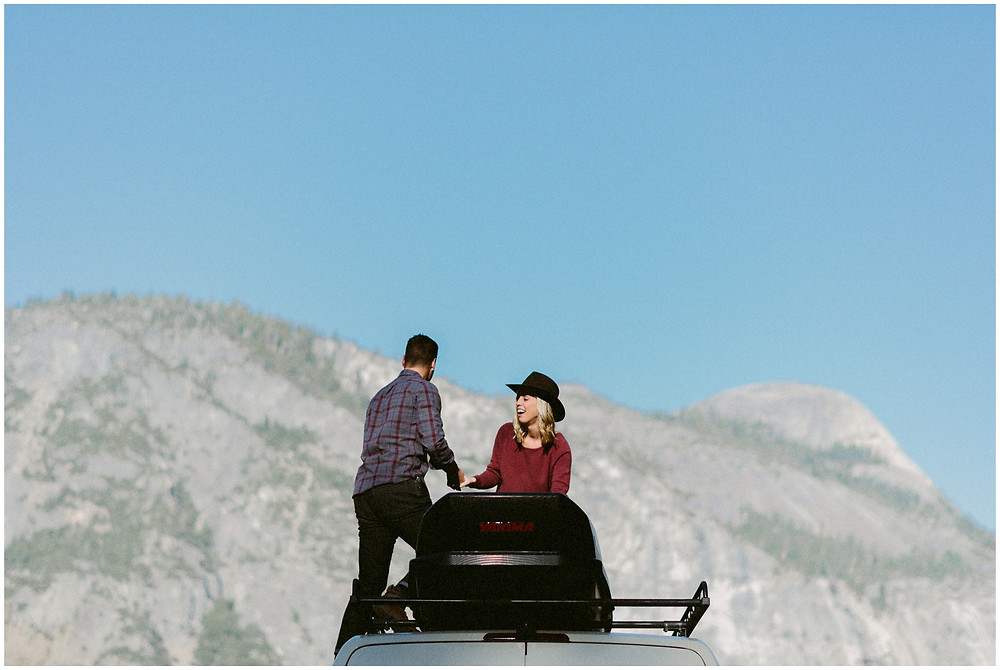 Adventurous couple's engagement photos in Yosemite by Mountainaire Gatherings
