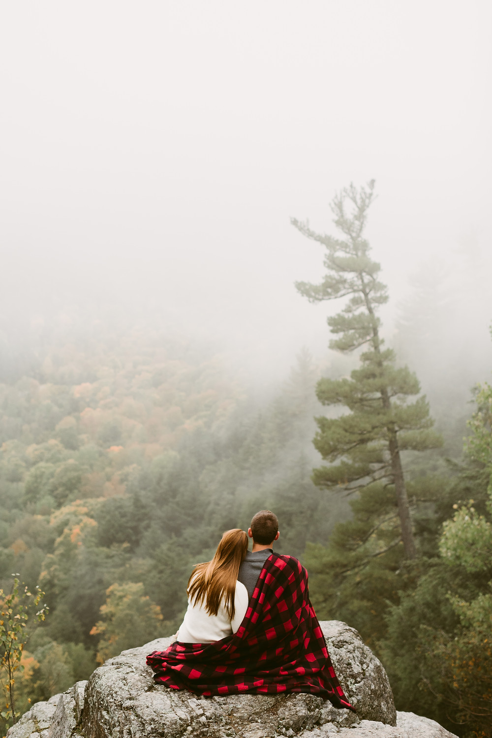 Hiking engagement session in Keene Valley, NY by Mountainaire Gatherings