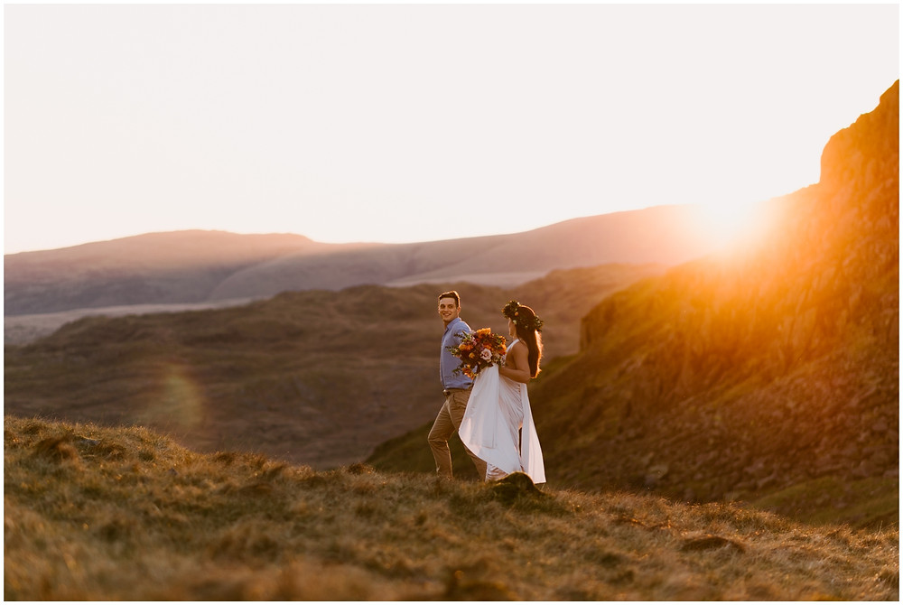 Boho elopement in the Lake District, UK