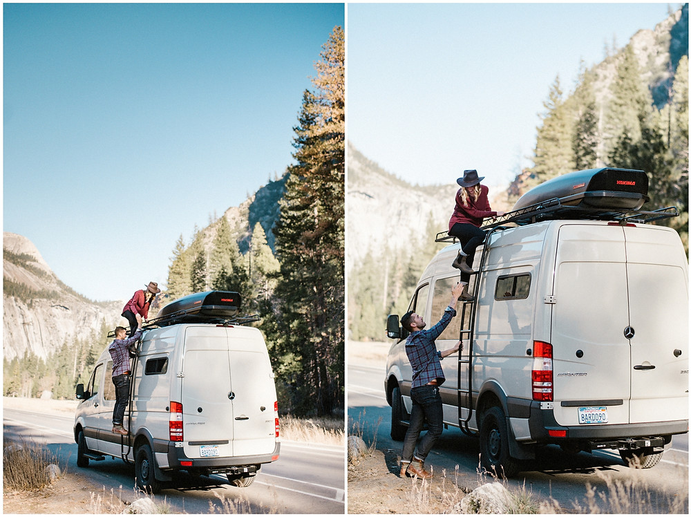 Adventurous engagement session in Yosemite, California by Mountainaire Gatherings