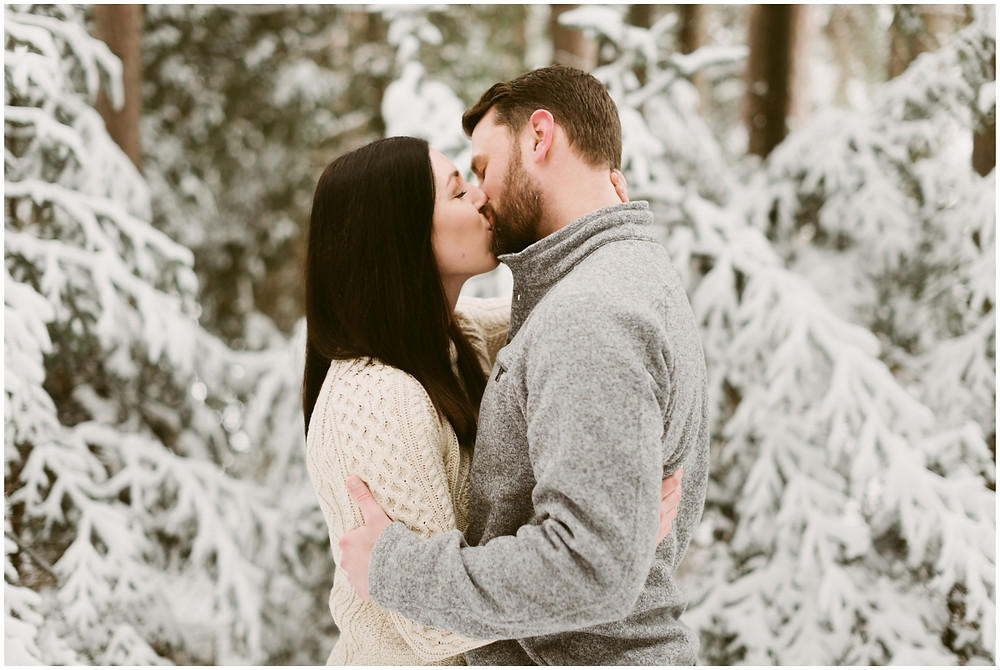 Romantic, winter engagement session in the mountains by Mountainaire Gatherings