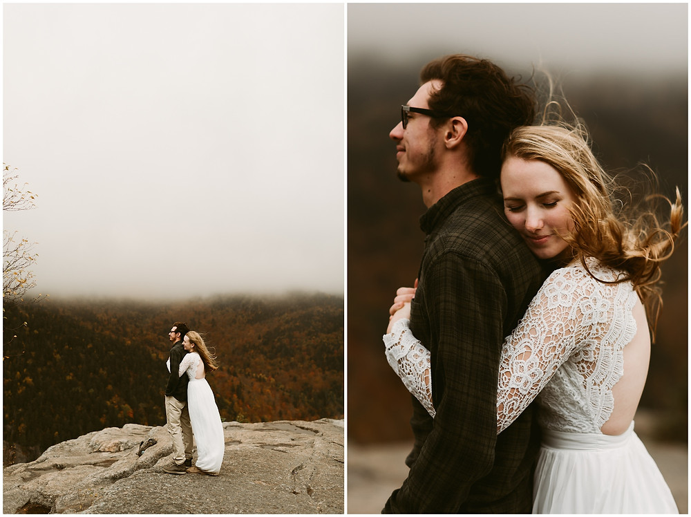 romantic elopement photography in the adirondack mountains by Mountainaire Gatherings