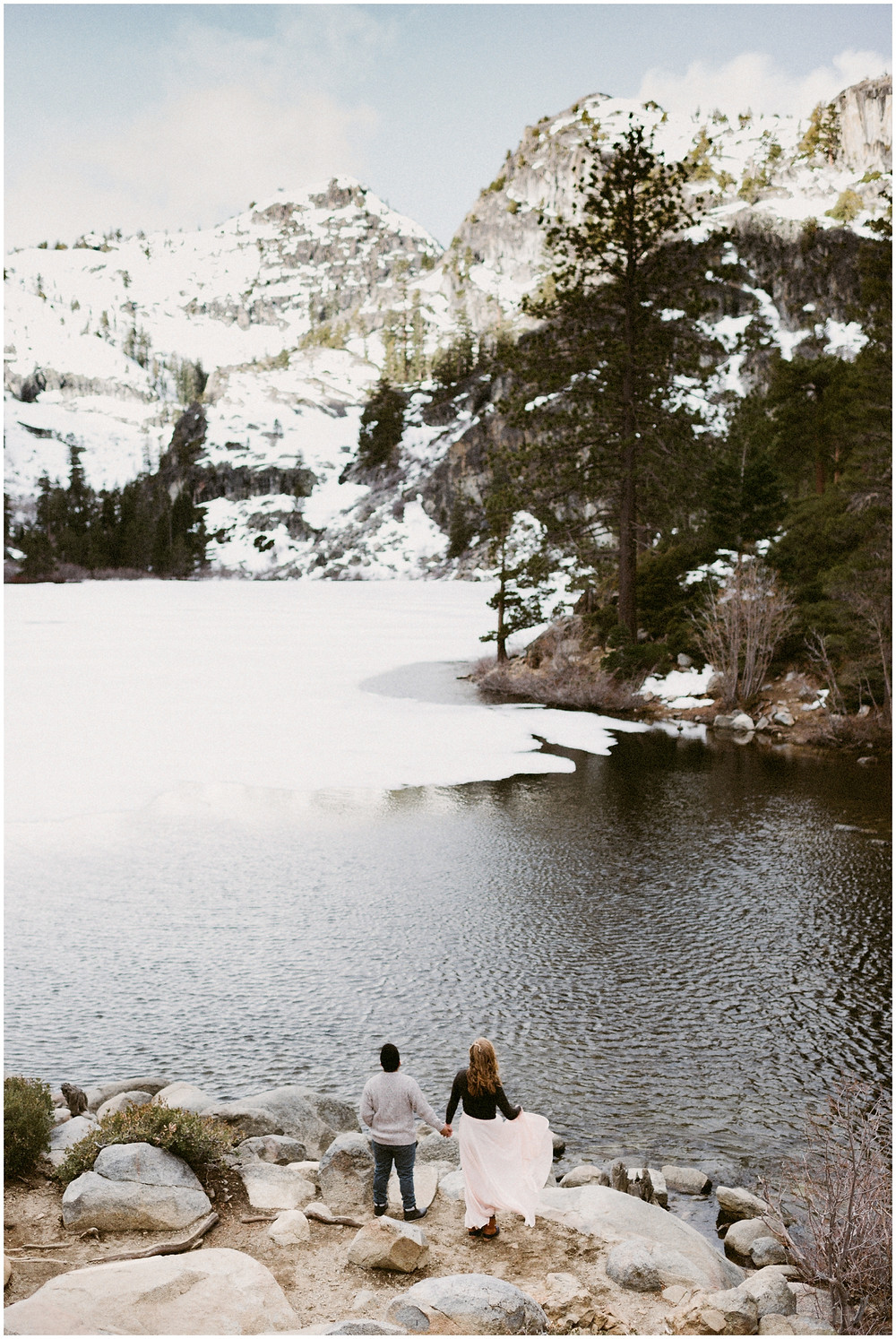 Lake Tahoe adventurous elopement photographer