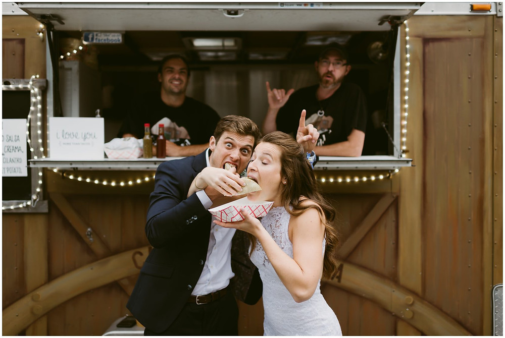 food trucks at lake placid wedding