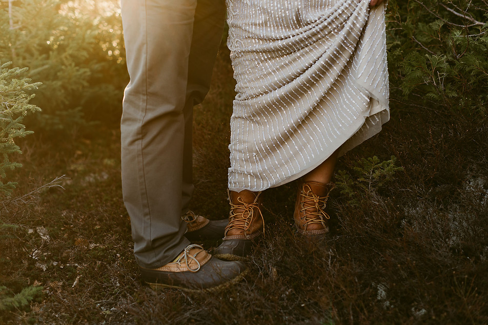 Lake Placid Wedding Portraits on Mount Jo | Upstate New York Wedding Photographer
