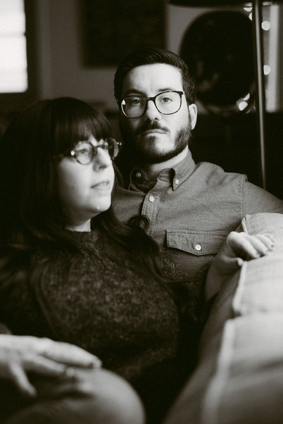 Cozy In-Home Engagement Photos by Hudson Valley Wedding Photographer, Mountainaire Gatherings