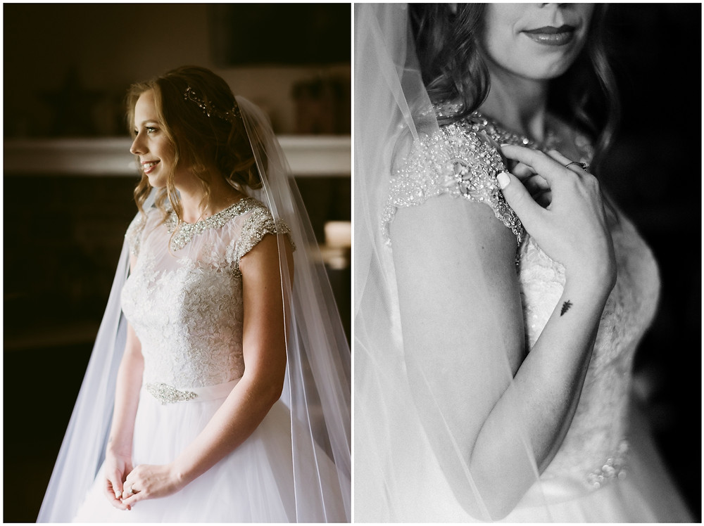 Indoor, natural light bridal portraits by east coast photographer Mountainaire Gatherings