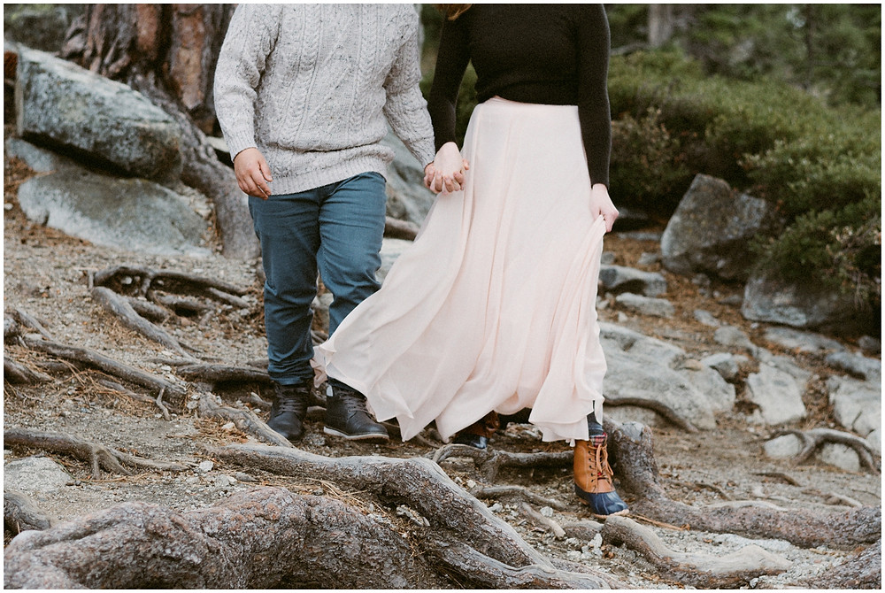 Intimate elopement at Eagle Lake in Lake Tahoe