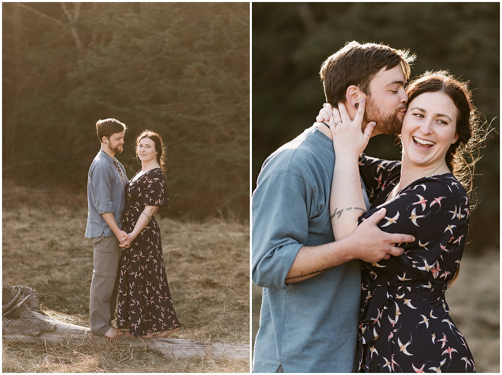 Romantic and wild engagement session in the Adirondacks