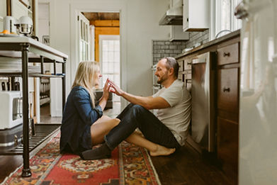 Cozy In-Home Couple's Session at Warner'