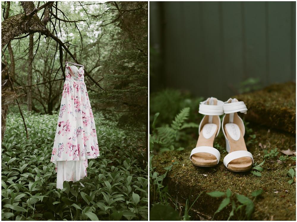 Rainy spring wedding in Chittenden, Vermont