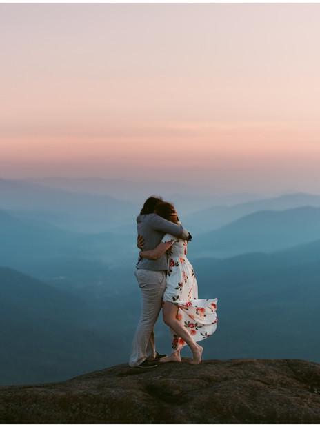 Missy & Maura   LGBT Adventurous Sunrise Engagement   Noonmark Mountain, Lake Placid