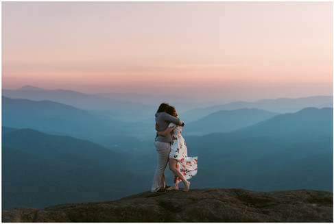 Missy & Maura | LGBT Adventurous Sunrise Engagement | Noonmark Mountain, Lake Placid