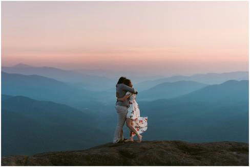 Missy & Maura | LGBT Adventurous Sunrise Engagement | Noonmark Mountain, Lake Placid