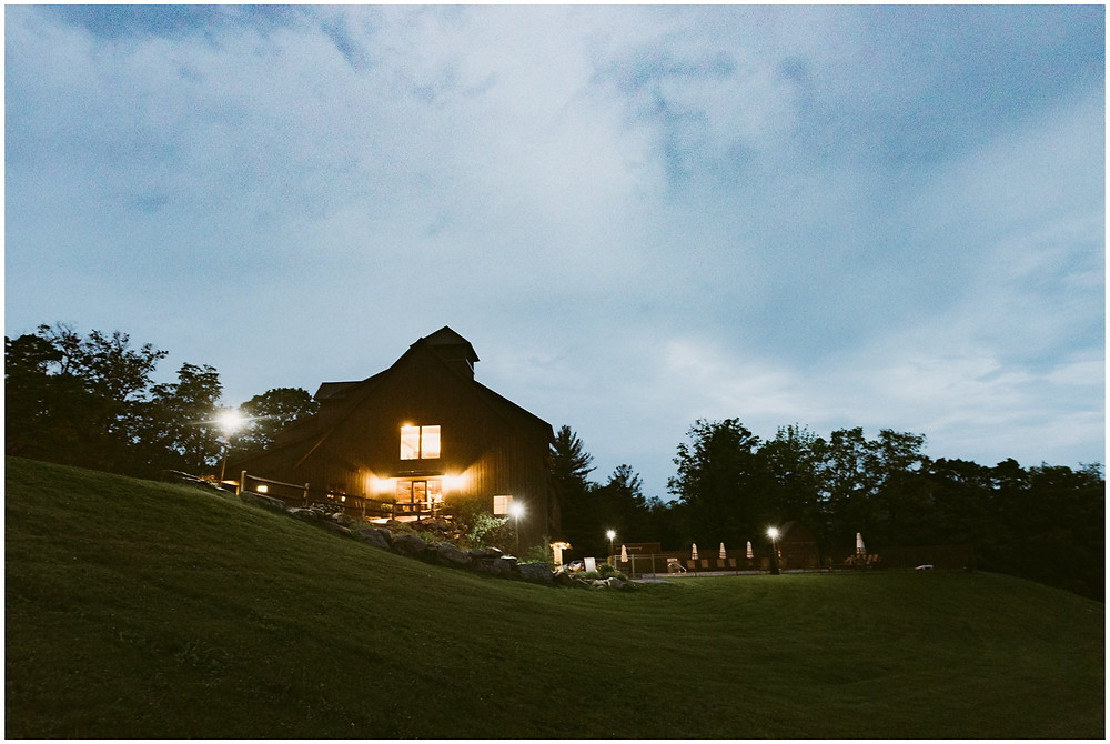 Twilight at the Mountain Top Inn and Resort in Chittenden, Vermont