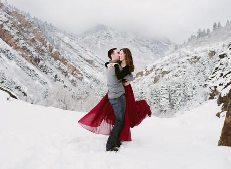 Snowy Anniversary Session | Salt Lake City, Utah | Utah Adventure Wedding Photographer