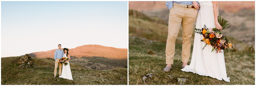 Boho wedding portraits in the Lake District, UK
