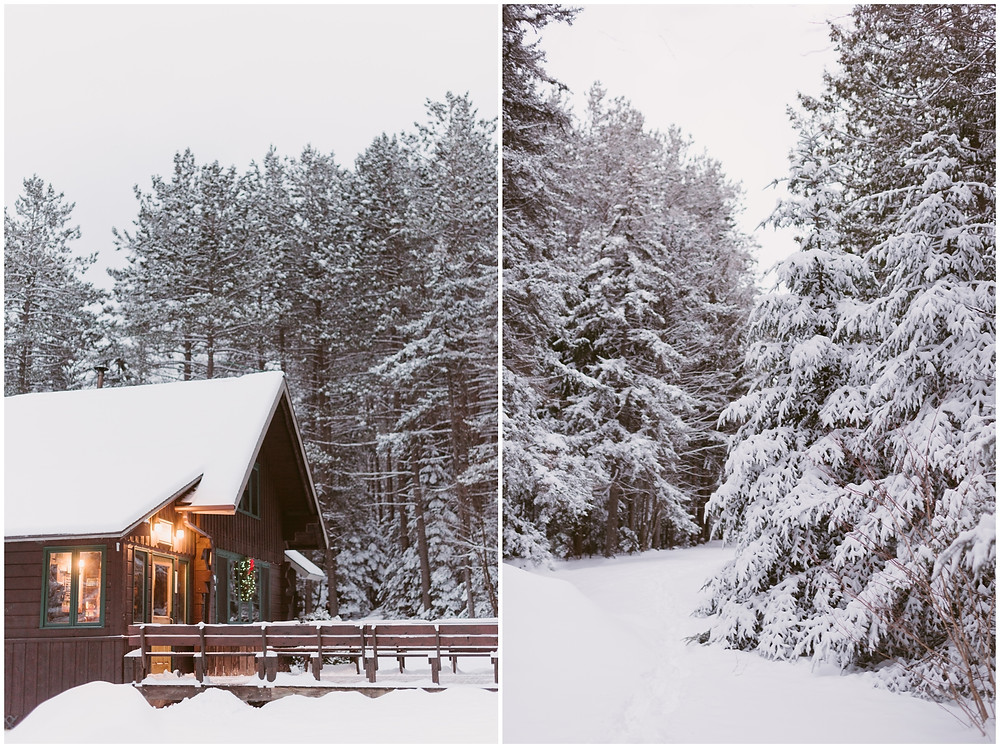 A snowy morning at the Adirondack Mountain Club in Lake Placid by Mountainaire Gatherings