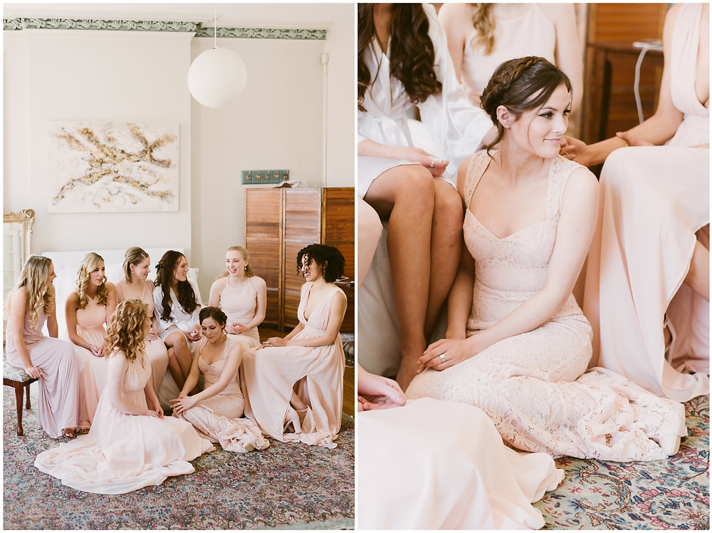 Romantic, pink bridal party at the Takk House in Troy, NY by Mountainaire Gatherings