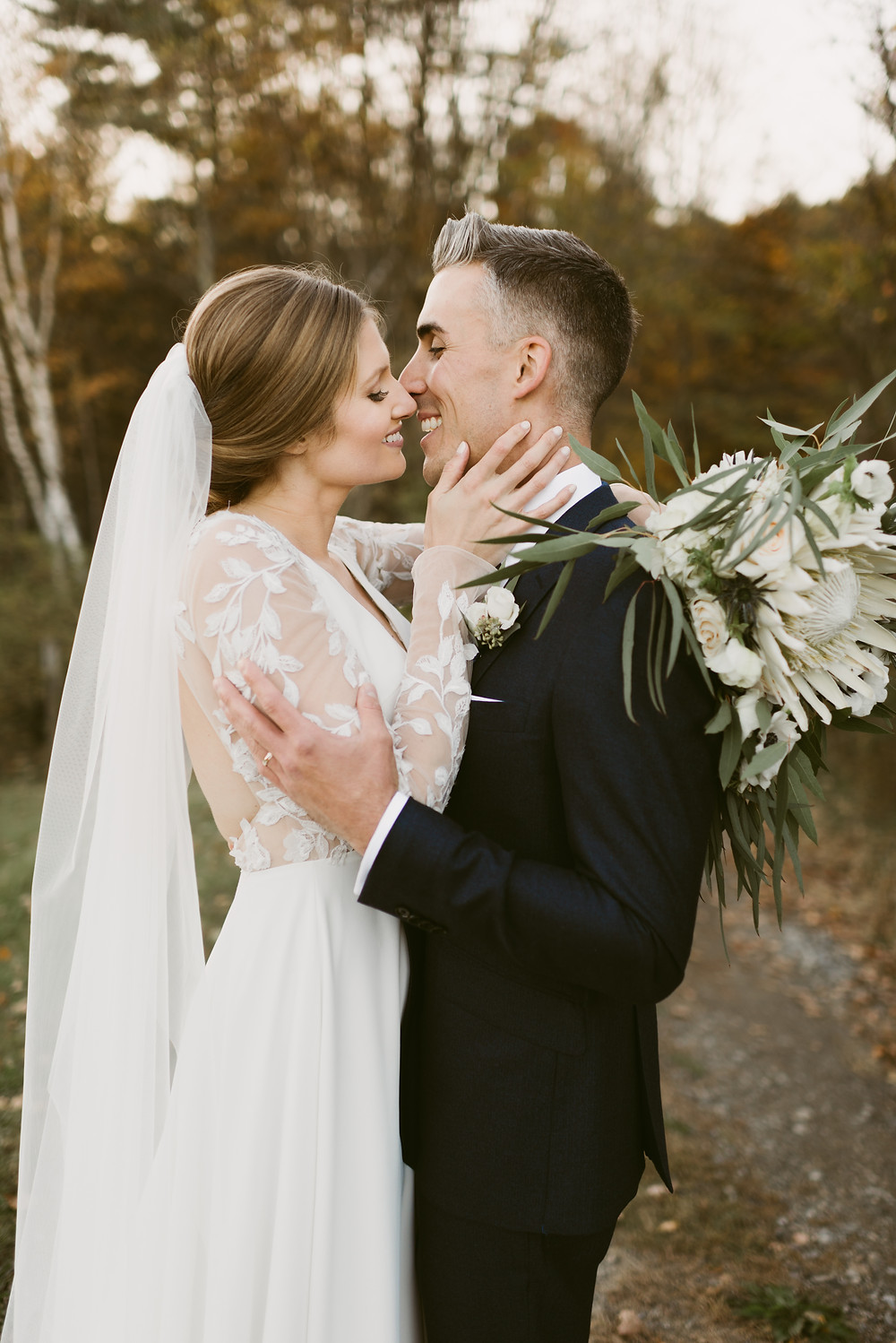 Romantic fall wedding at the Barn at Lord Howe Valley in Hudson Valley by Mountainaire Gatherings