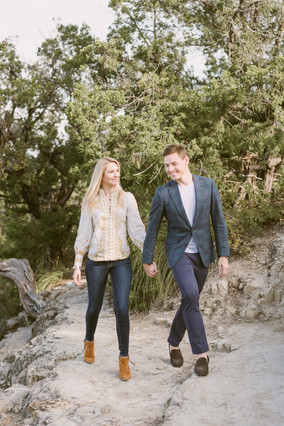 Spring engagement session at Mount Bonnell in Austin, Texas
