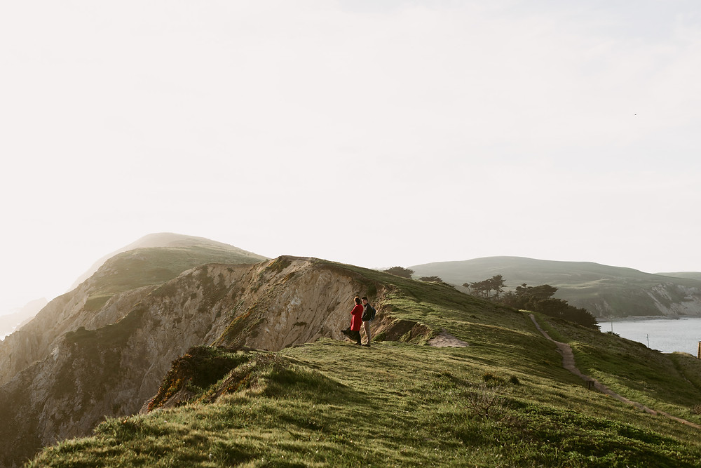 A Point Reyes engagement session at sunset
