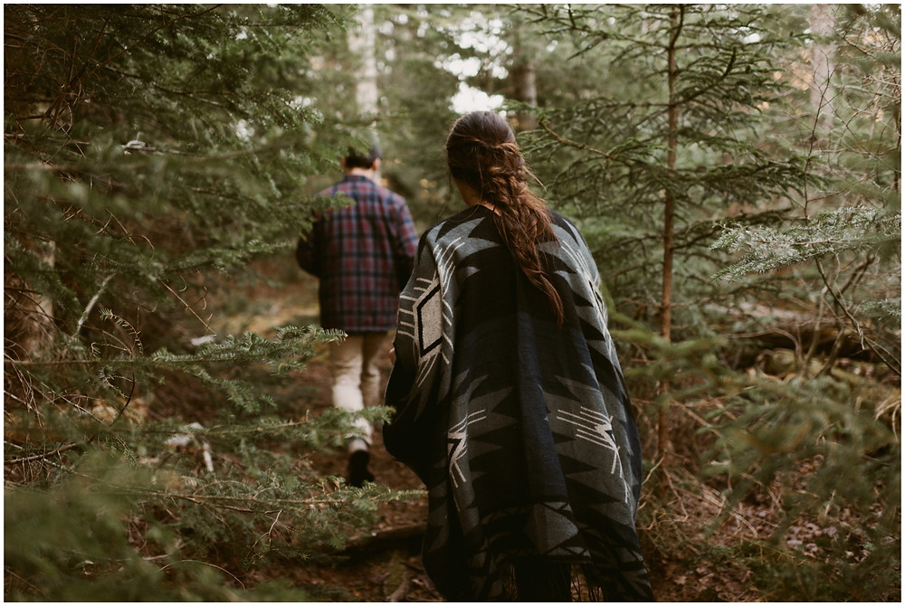 Camping in the mountains engagement session by Mountainaire Gatherings