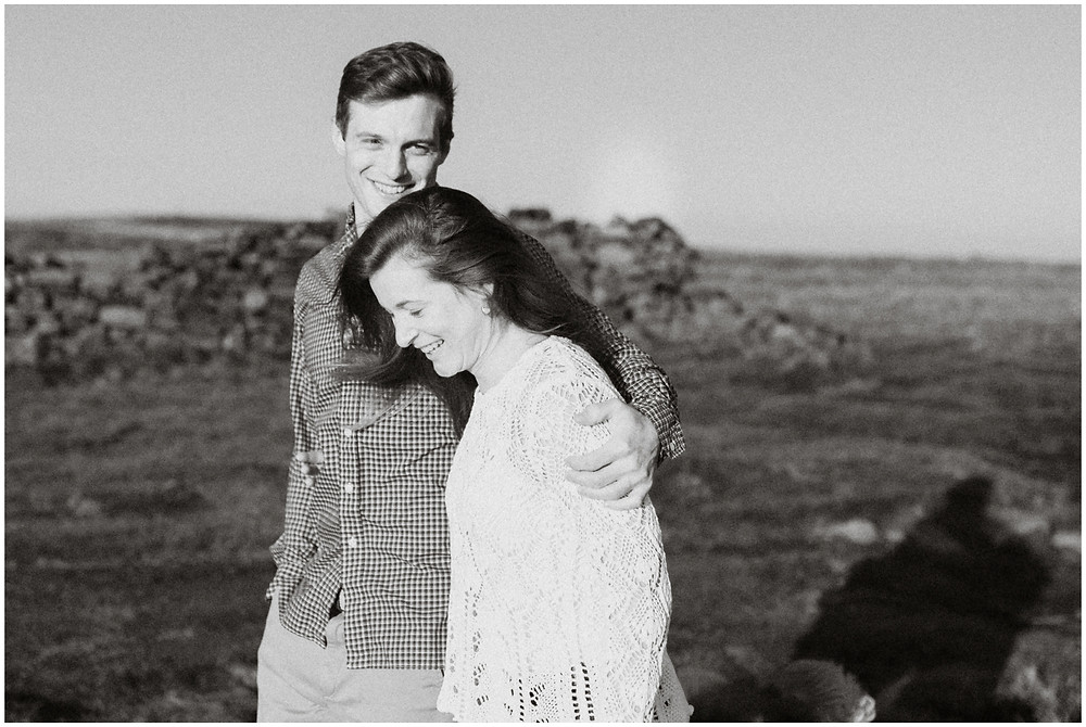 Sunny engagement photos in the Peak District of the United Kingdom by Mountainaire Gatherings