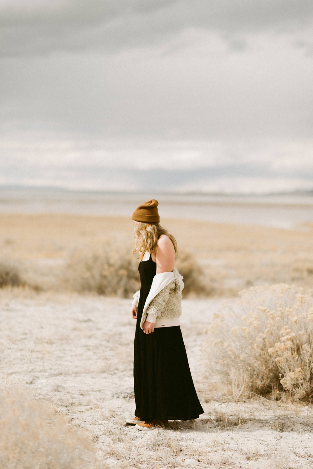 Adventurous Bridal Portraits | Antelope Island, Utah | Utah Elopement Photographer