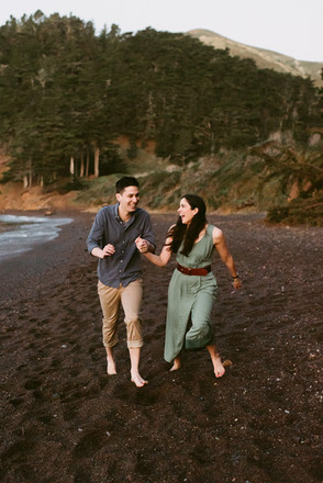 Sunrise Engagement Session at Kirby Cove