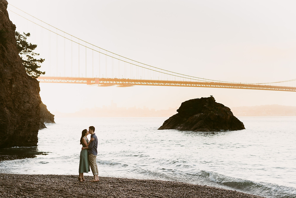 Adventurous Engagement Session at Kirby Cove, CA | San Francisco Wedding Photographer