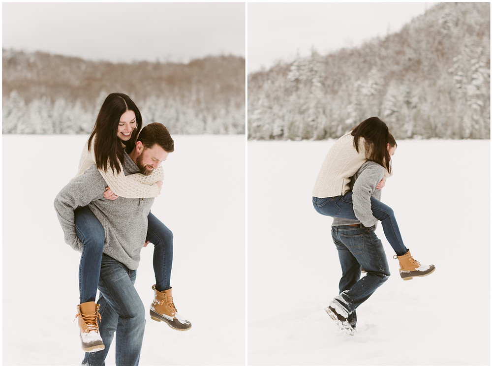 Engagement session in the Adirondack Mountains by Mountainaire Gatherings