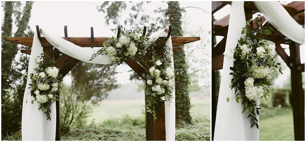 Outdoor spring wedding at Worsell Manor, Warwick Maryland
